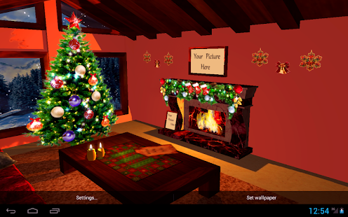 3D Christmas Fireplace HD Live Wallpaper- screenshot thumbnail