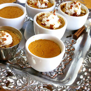 Mini crustless pumpkin pies OR Fresh Pumpkin Pie Filling - pressure cooker