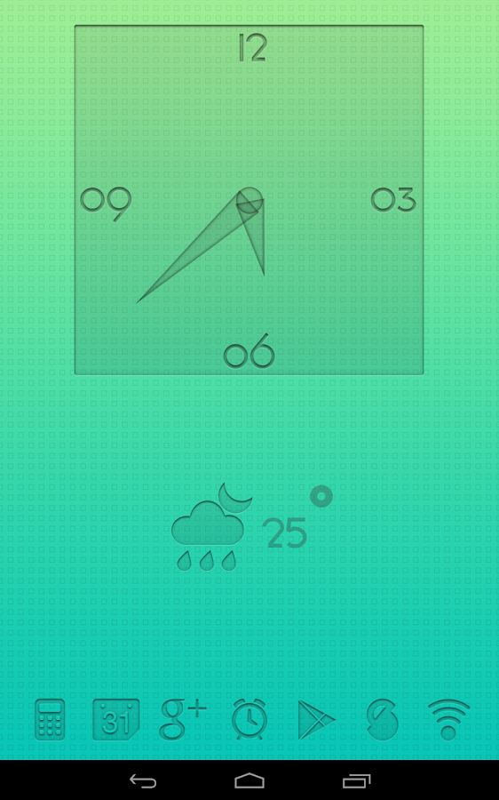 PushOn UCCW Clock and Weather - screenshot