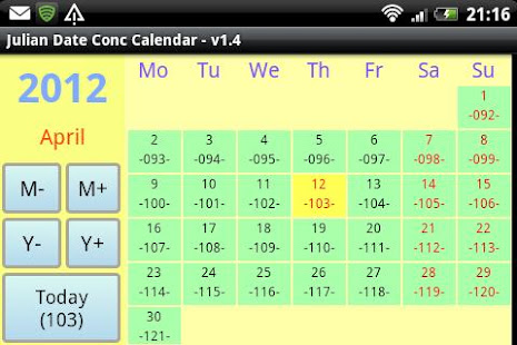 Julian Date Conv Calendar - Apps on Google Play