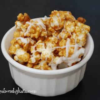 Gourmet Cinnamon Roll Caramel Popcorn.
