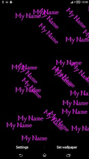 MyName Live Wallpaper 3D screenshot