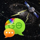 GO SMS Space & Satellite Theme