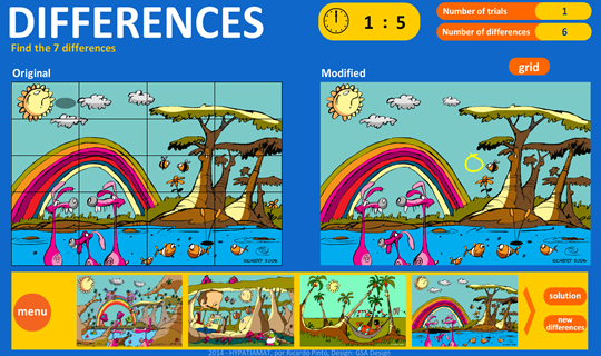 Difference game- screenshot