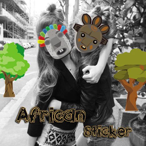 非洲的貼紙相機 攝影 App LOGO-APP試玩