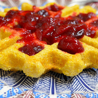 Vegan Cornmeal And Cranberry Waffles