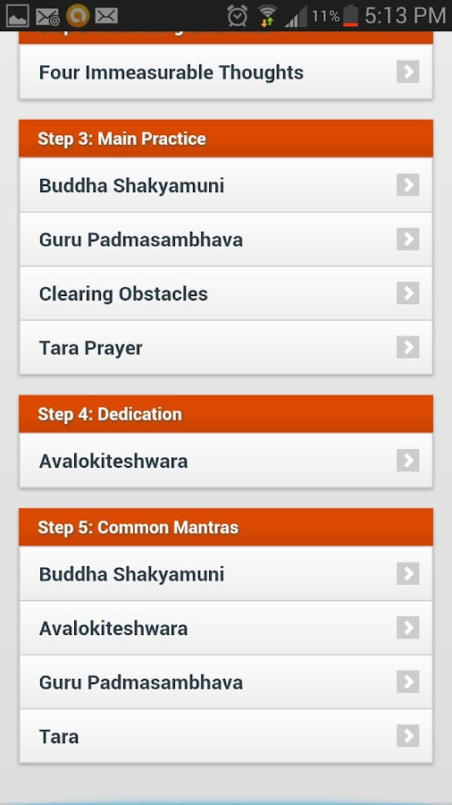 Daily Buddhist Prayers - screenshot
