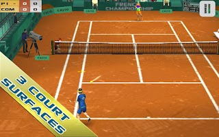 Screenshot of Cross Court Tennis Free