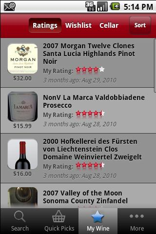 Wine Ratings Guide - screenshot