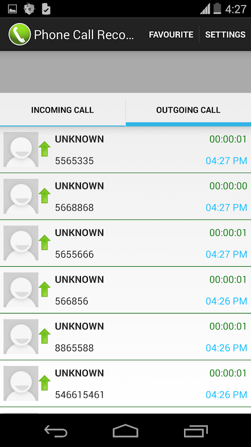 Phone Call Recorder- screenshot