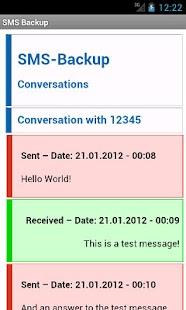 SMS Backup- screenshot thumbnail