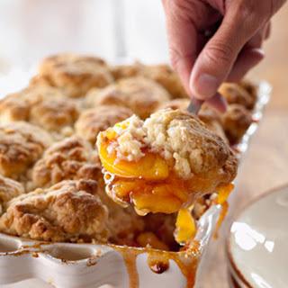Peach and Cinnamon Cobbler.
