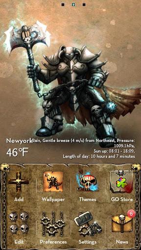 تحميل ثيم Devil warrior GOLauncher
