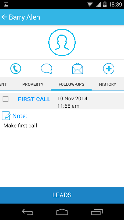 Mobile Real Estate Agents CRM - screenshot
