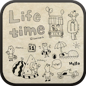 Life time go launcher theme