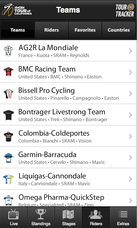 Tour of California Tracker - screenshot
