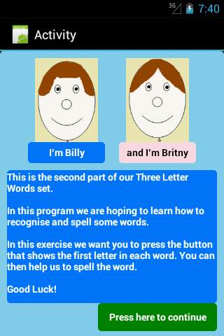 Three Letter Words Part 2 Free- screenshot