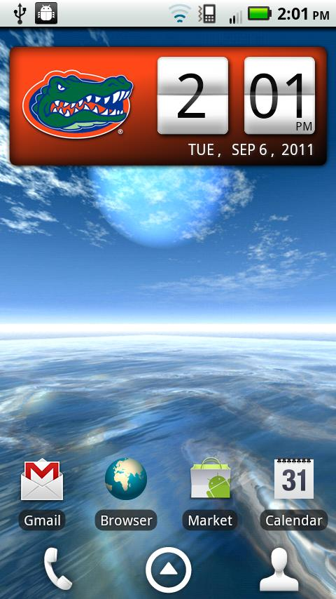 Florida Gators Clock Widget - screenshot