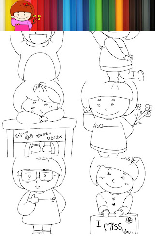 Coloring Kid Pinky