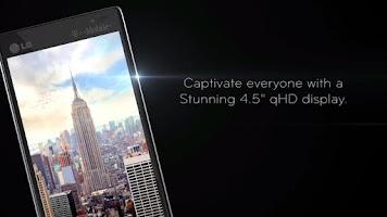 Screenshot of LG Optimus L9 In-Store Demo