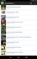 Screenshot of Golfing News Online App