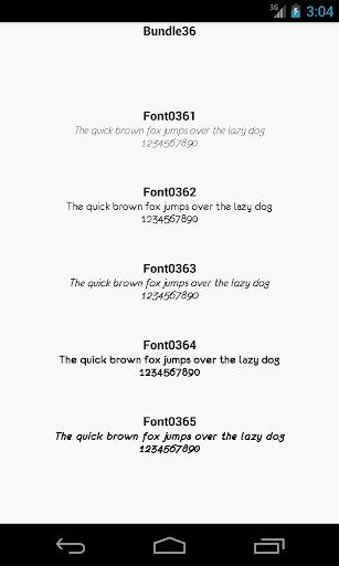 Fonts for FlipFont 36