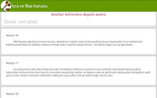 Screenshot of İcra ve İflas Kanunu
