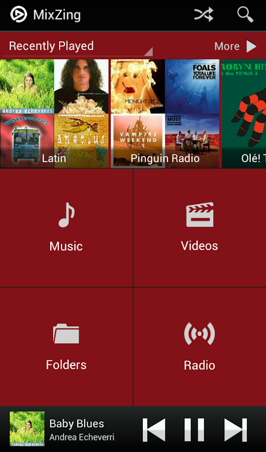 MixZing Music Player - screenshot