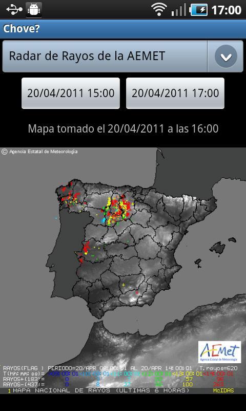 It is raining? Rainfall/Sat- screenshot