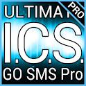 Blue ICS GO SMS Pro Theme logo
