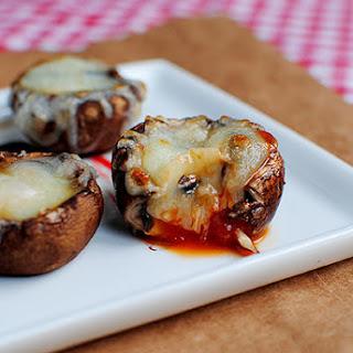 Mushroom Cap Pizza Bites.