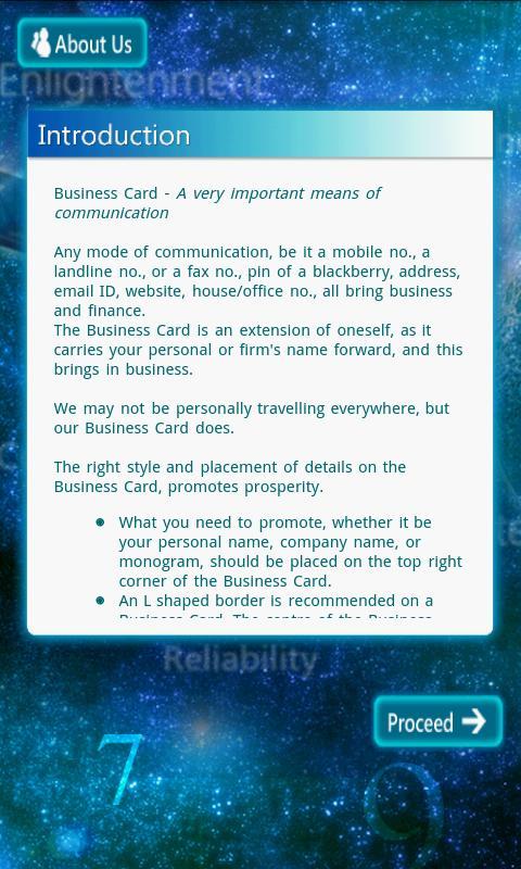 Business Card - screenshot
