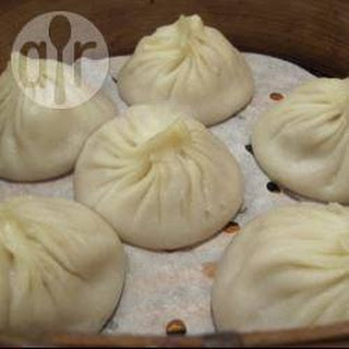 Chinese Chicken And Ginger Steamed Buns.