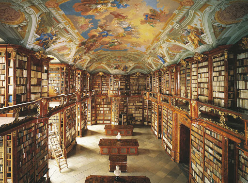 monastery-of-st-florian-library - Monastery of St. Florian Library in Sankt Florian, Austria.