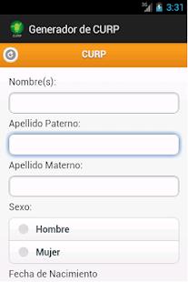 Generador de CURP y RFC - screenshot thumbnail