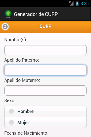 Generador de CURP y RFC - screenshot