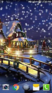 Snow Night Live Wallpaper HD 4