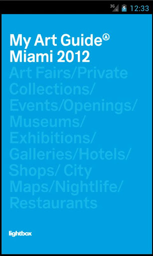 My Art Guide Miami 2012