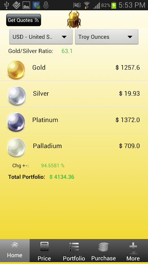 Live Gold Price App - screenshot