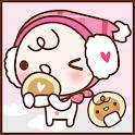 嬰兒沐浴粉紅色的冬季可可弗里克主題 icon