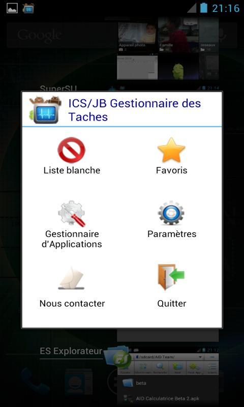 ICS Task Manager/Switcher FREE - screenshot
