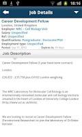 Screenshot of Naturejobs