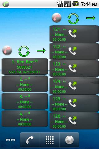 Home Screen Call Logs- screenshot