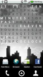 Text Clock Pro Live Wallpaper Screenshot 1
