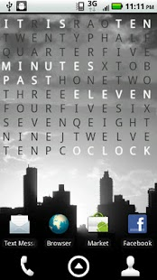 Text Clock Pro Live Wallpaper Screenshot 1