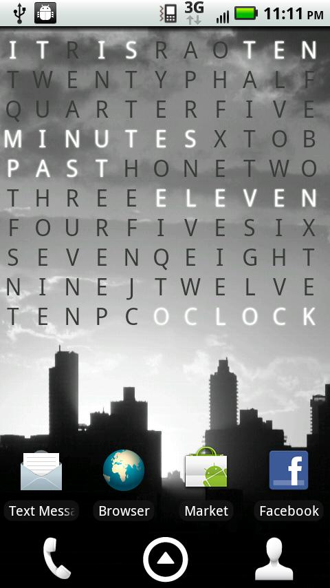 Text Clock Pro Live Wallpaper - screenshot