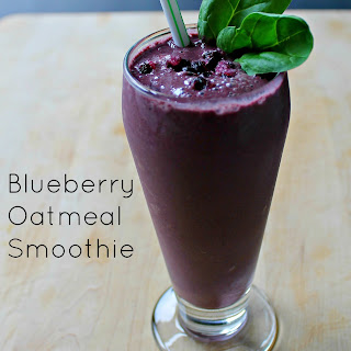 Blueberry Oatmeal Smoothie.