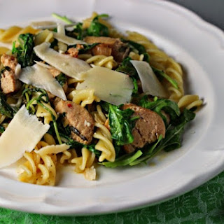Peppery Pasta with Arugula and Sausage