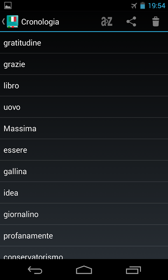 Italian Dictionary - Offline - screenshot