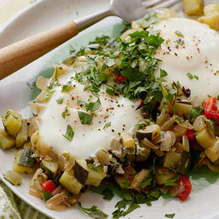 Courgette Hash Browns and Eggs.